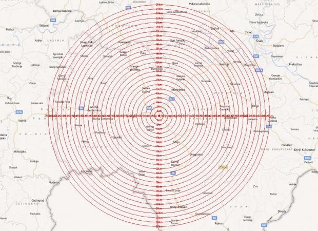 Karta ilustrira pokrivenost područja banovine prema prijedlogu gradonačelnika Grada Gline gospodina Milana Bakšića