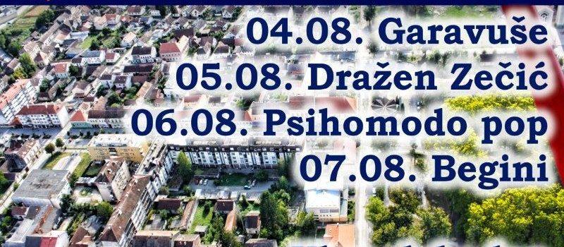 Program proslave Dana pobjede i domovinske zahvalnosti, Dana hrvatskih branitelja i Dana Grada Gline 2016