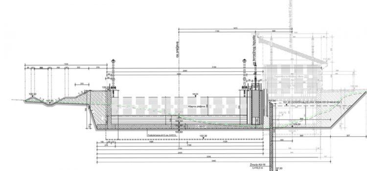 Radovi u tijeku – izgradnja vodne stepenice i lijevih potpornih zidova