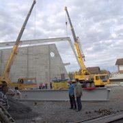 Radovi krovne konstrukcije sportske dvorane u Glini