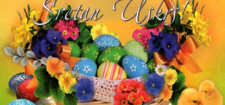 Čestitka u prigodi katoličkog blagdana Uskrsa