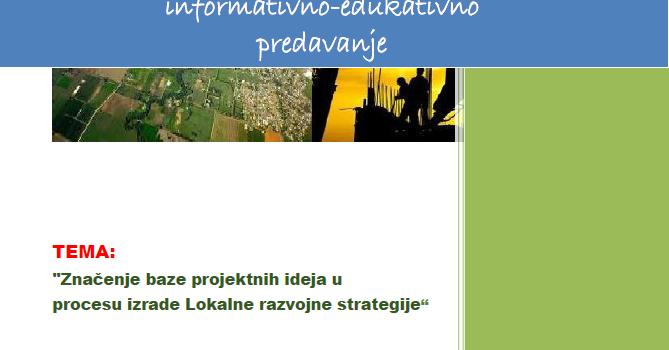 """Poziv na radionicu LAG-a """"Zrinska gora – Turopolje"""""""