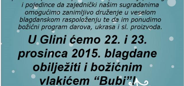 Božićni sajam u Glini 21.12. – 24.12.2015.