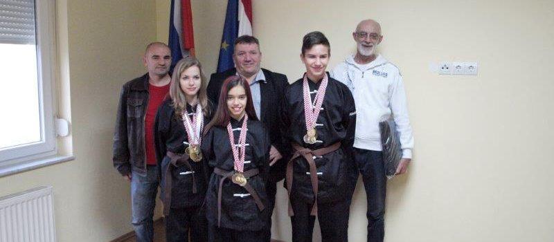 Prijem sportaša Wushu kluba Glina