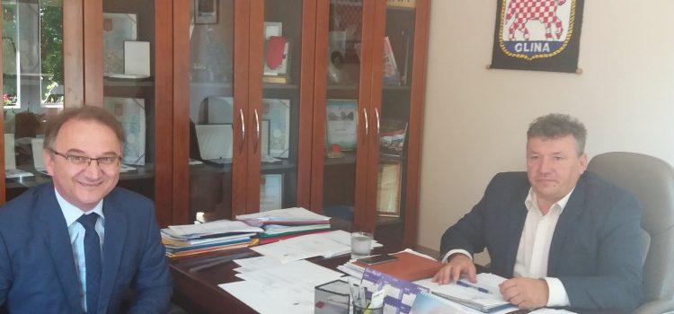 Državni tajnik Ministarstva kulture Ivica Poljičak u Glini