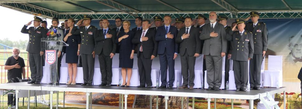 Predsjednica Kolinda Grabar-Kitarović posjetila Glinu povodom obljetnice predaje 21. kordunskog korpusa