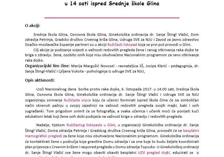 Ružičasti listopad u Glini