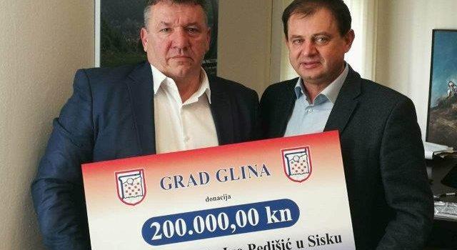 Grad Glina donirala 200 tisuća kuna za nabavku magnetske rezonance