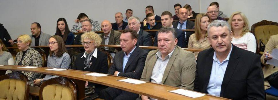 Gradonačelnik Stjepan Kostanjević na početnoj konferenciji projekta Poduzetničkog inkubatora