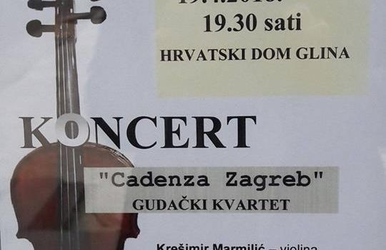 Gudački koncert kvarteta Cadenza Zagreb u Glini