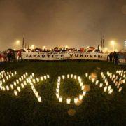 Paljenje svijeća za Vukovar