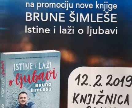 """Promocija knjige """"Istine i laži o ljubavi"""" autora Brune Šimleše"""