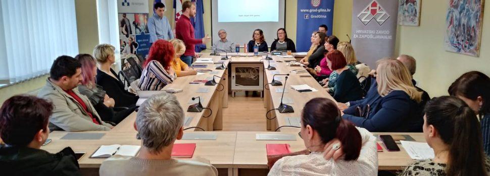 Održano predstavljanje Mjera aktivne politike zapošljavanja za 2019. godinu u Glini