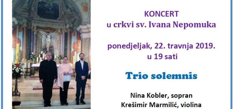 Koncert u crkvi sv. Ivana Nepomuka – Trio Solemnis
