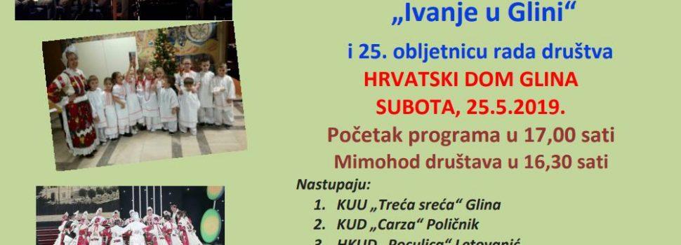 """Najava: 13. smotra folklora – """"Ivanje u Glini"""""""