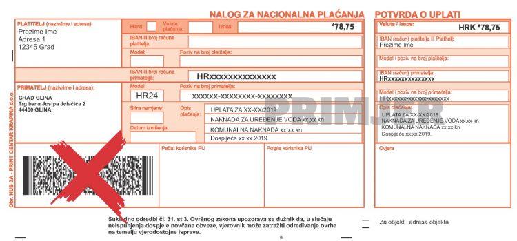 Uplatnice za naknadu za uređenje voda i komunalnu naknadu – isprika tvrtke Print Centar Krapina d.o.o. zbog pogrešnog barkoda