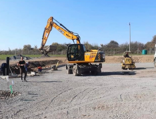 Radovi na izgradnji reciklažnog dvorišta u Gradu Glini